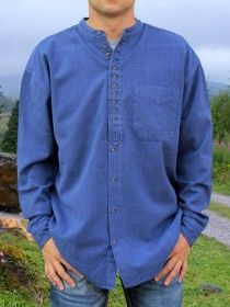 Traditional Grandfather Shirt SC506 Dusty Blue