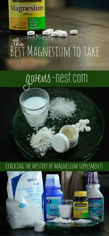 Best Magnesium to Take - Cracking the Mystery of Magnesium Supplements - Gwen's Nest