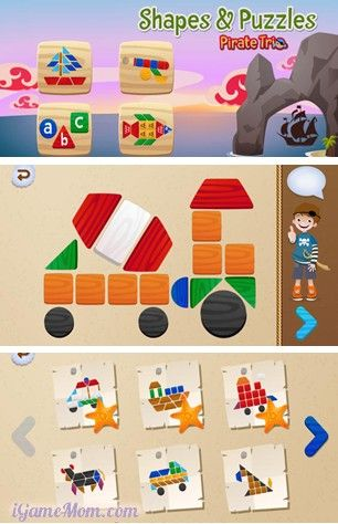 learn shapes, colors and fine motor skills with fun puzzle app - great for imagination and creativity too. Plus no worry of missing pieces.