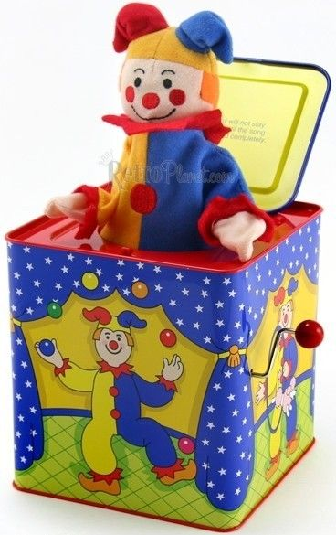 Classic Toys: Jack-in-the-Box - these can still be had - but so stinkin' expensive! :-(