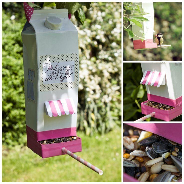 DIY Vogelhaus aus einer leeren Milchtüte via blog.dawanda.com
