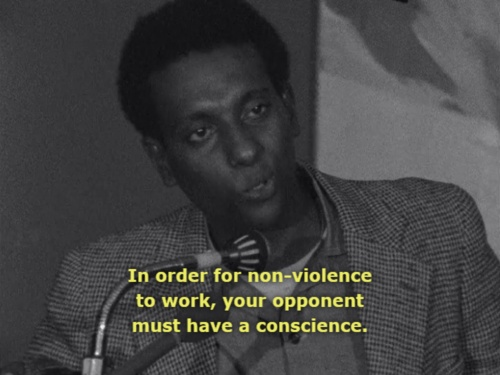 """Stokely Carmichael: """"In order for non-violence to work, your opponent must have a conscience. The United States has none, has none."""""""