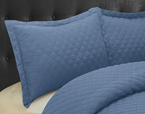 Natural Comfort Luxury Lines Microfiber Quilted Bedding Set King Pacific Blue * Read more info by clicking the link on the image. #BeddingSetsCollections