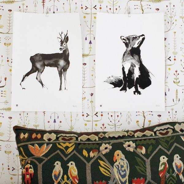 Teemu Järvi Illustrations Deer poster, 50 x 70 cm | Posters | Decoration | Finnish Design Shop
