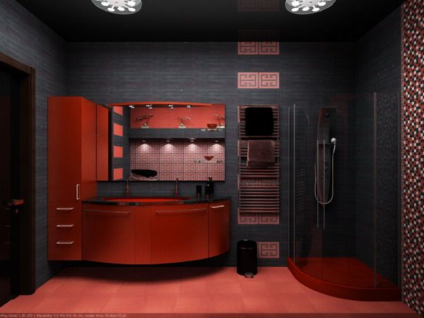 Best Black Red Images On Pinterest Red Kitchen And Black