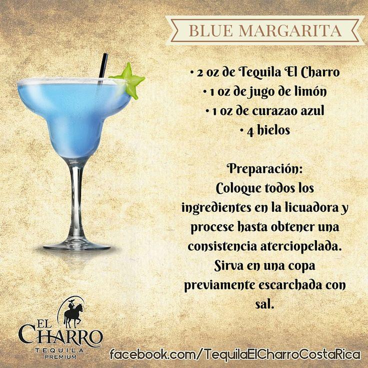 Blue Margarita, con Tequila El Charro! #TequilaElCharro #Tequila #Coctel #Cocktail #BlueMargarita