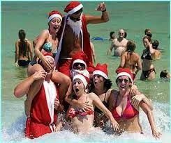 Christmas in the surf
