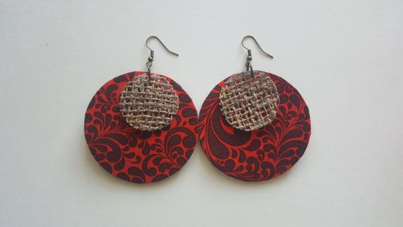 Check out this item in my Etsy shop https://www.etsy.com/au/listing/502667367/round-fabric-earring