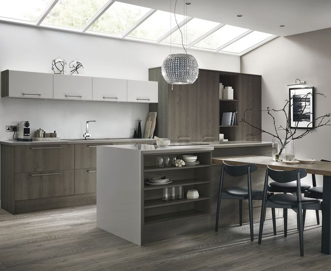 This Dark Grey Oak Gives You The Warmth Of A Wooden Kitchen With A Modern  And