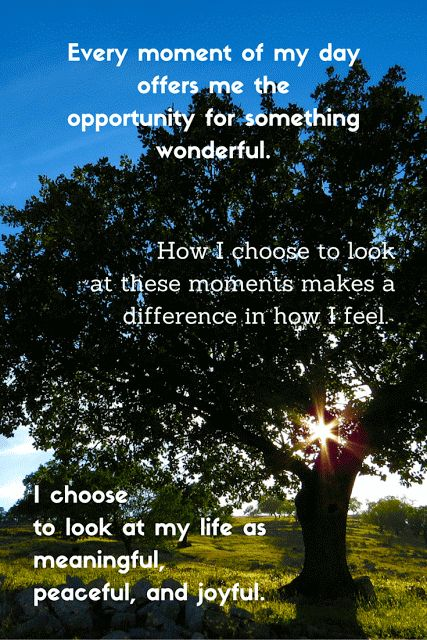 Affirmation - Every moment of my day offers me the opportunity for something wonderful
