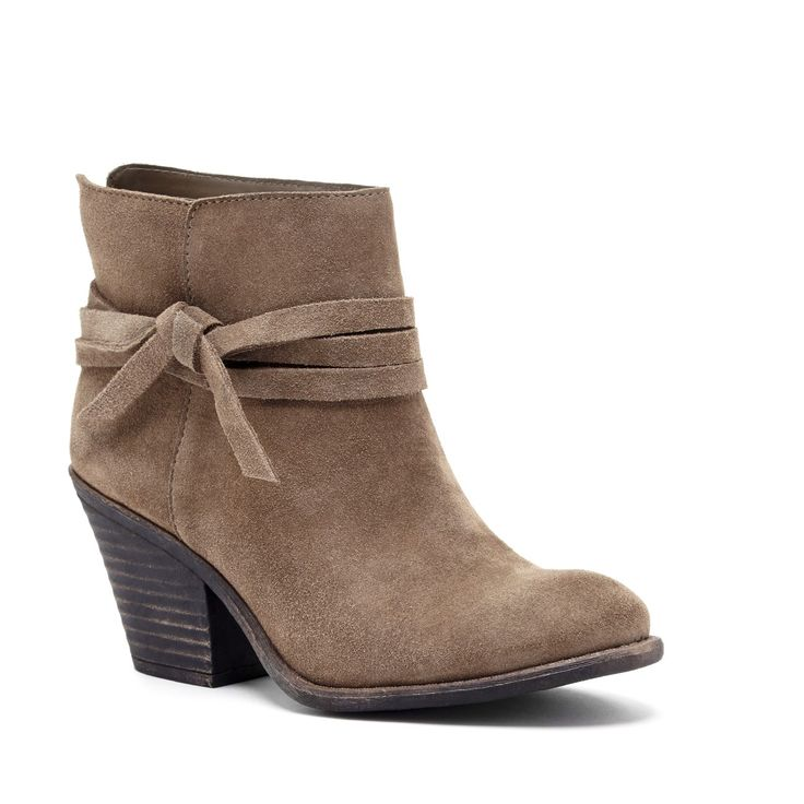 Women's Army Suede 3 Inch Stacked Heel Suede Bootie | Maren by Sole Society