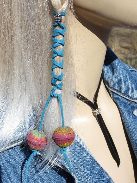 Ponytial houders Boheemse kleding haar Wrap handgeschilderde