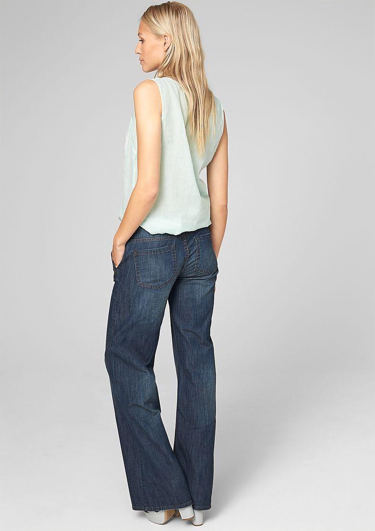 Wide:pantalon pattes d'éléphant en denim en s.Oliver Online Shop