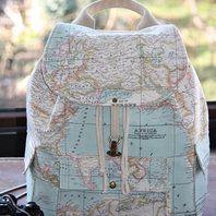 World Map Prints Backpack/Atlas Large Backpack/Travel,School,Daily Backpack/Unisex  Rucksack /Earth /