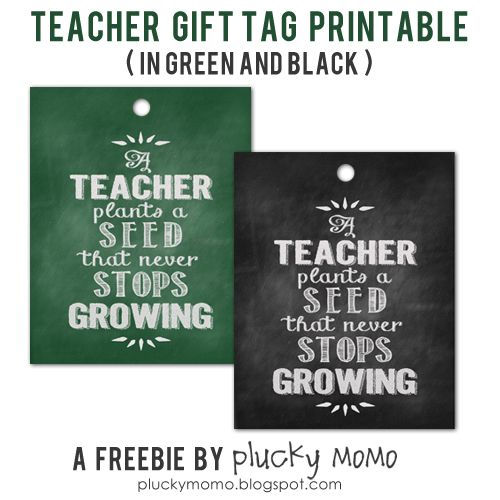 Teacher Gift Printable FREEBIE!