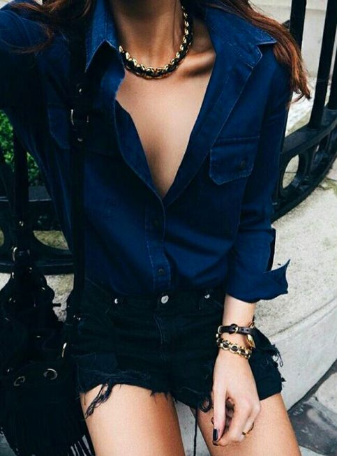 Love the blouse. The look is classy but edgy