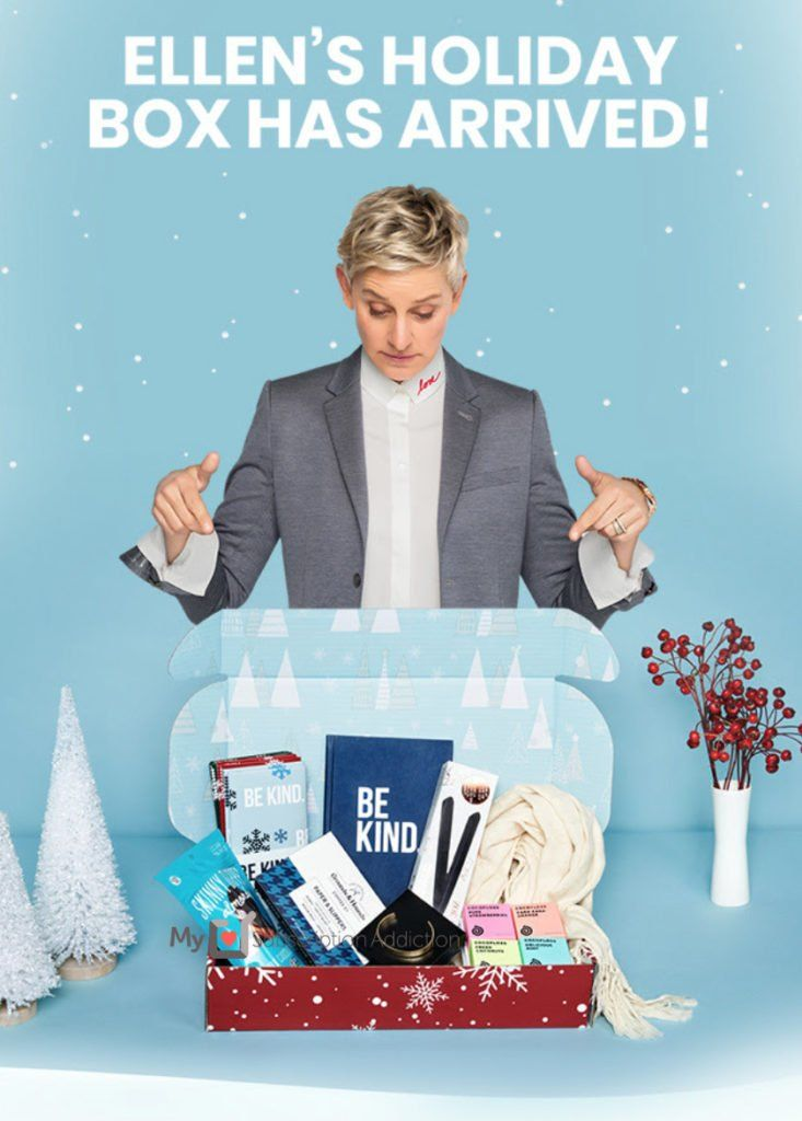 Be Kind By Ellen Holiday 2019 Box Full Spoilers Msa Holiday Box Kindness Birthday List