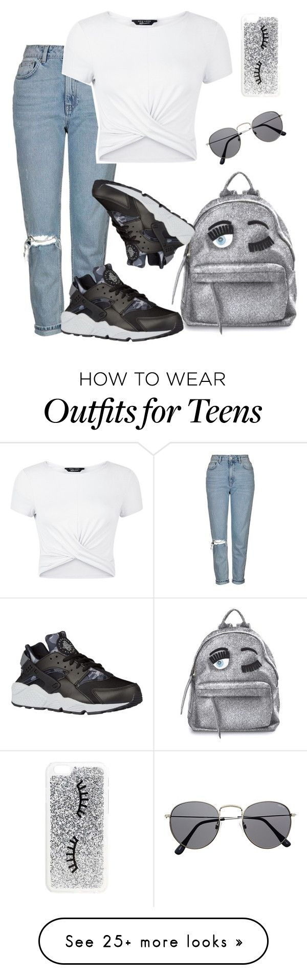 """"" by kaaymvrie on Polyvore featuring Topshop, Chiara Ferragni, New Look, NIKE and Miss Selfridge"