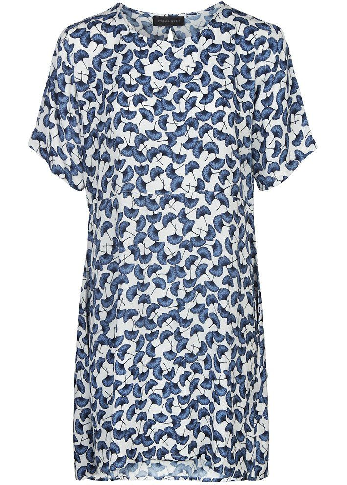 Kjole blå print 10094 Storm og Marie Holly Dress - blue print