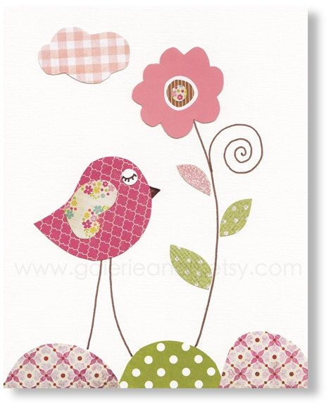 Hey, I found this really awesome Etsy listing at https://www.etsy.com/listing/188969256/bird-nursery-flower-nursery-art-baby