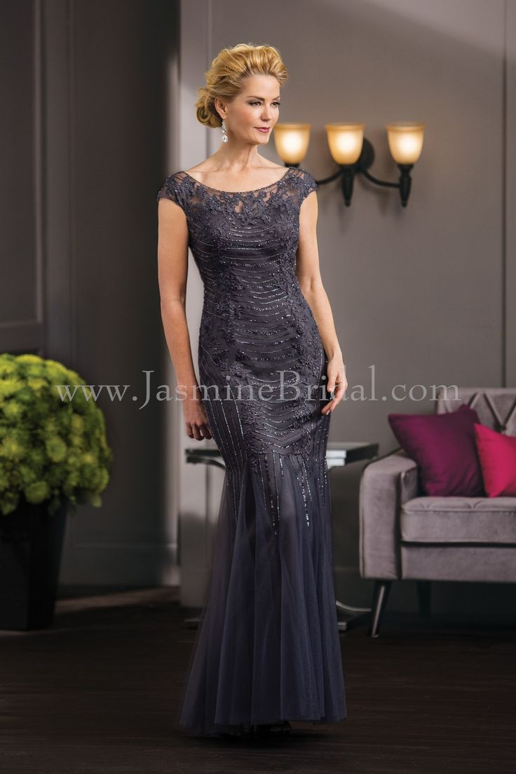 Jasmine bridal jade couture style k188054 in iron fall for Mother of the bride dresses for fall wedding