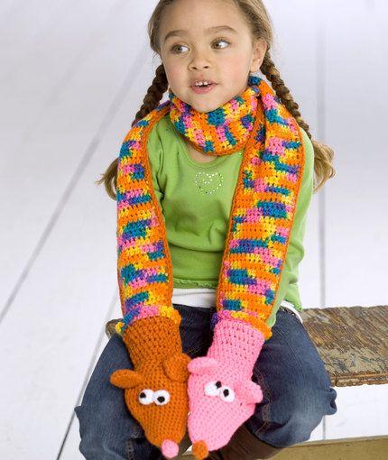 Crochet Puppet Scarf Crochet Pattern   Red Heart