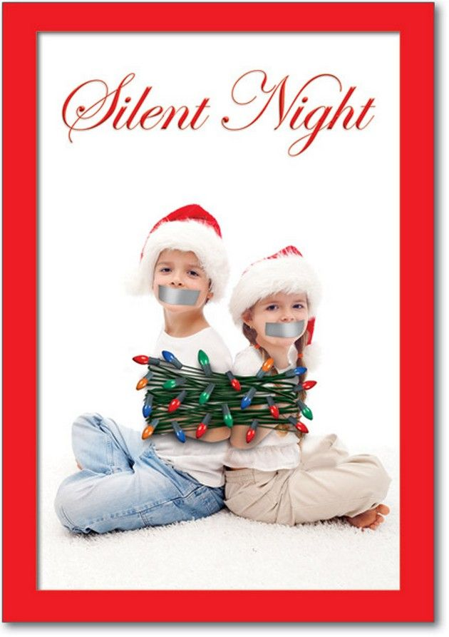 MAy Have To Do This Silent Night Idea With The Kids ;) 38 Awesome Christmas  Card Ideas You Should Steal