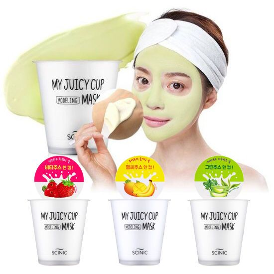 Korea SCINIC My Juicy Modeling CUP Mask Pack 3EA Home Aesthetic Elasticity Care  #SCINICKBeauty