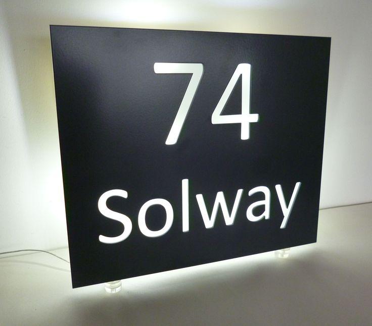 29 best Illuminated LED House Name Plates images on Pinterest