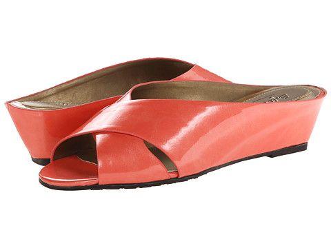 Womens Soft Style Elida Sandals Dark Coral HAF25490