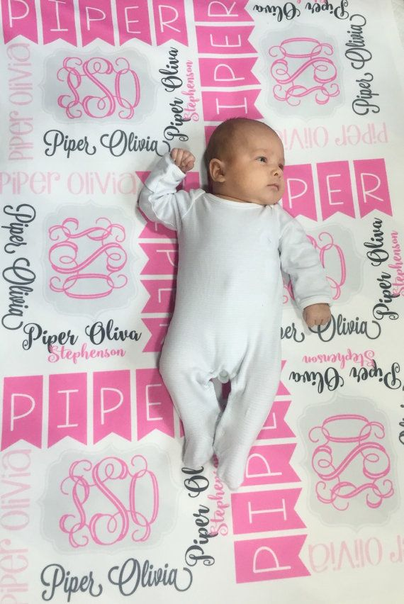 The 25 best monogrammed baby blankets ideas on pinterest personalized baby blanket monogram baby blanket swaddle receiving blanket baby shower gift negle Images