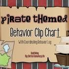 Pirate Themed Clip Chart and Behavior Log: Behavior Managment Tool