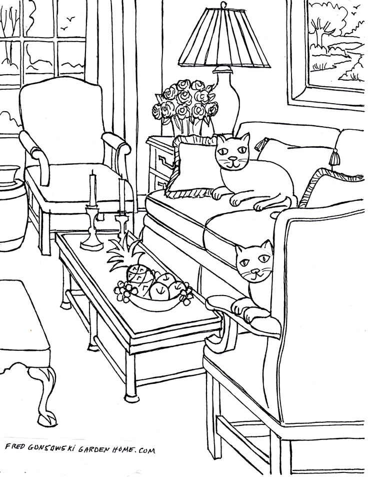 fun living room coloring pages!  my awesome coloring book