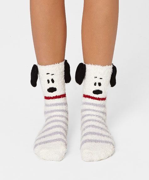 Snoopy fluffy socks - OYSHO
