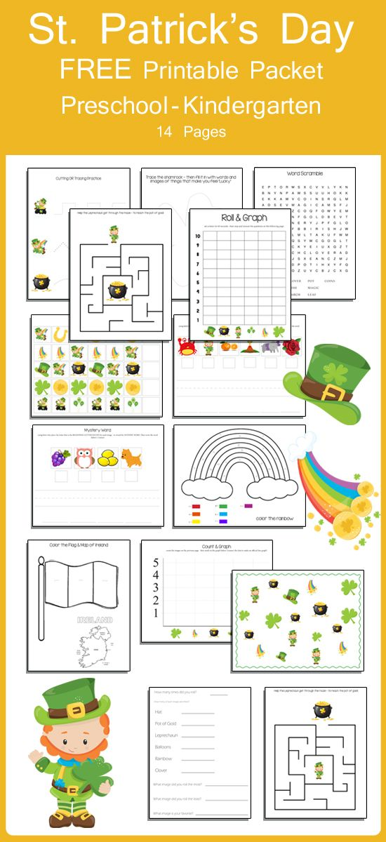 Looking for a comprehensive learning resource for your preschooler or Kindergartner? This is an awesome St. Patrick's Day themed printable packet. It covers a ton of learning topics!