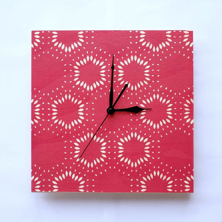 Clock 'Hex' Pink. Available from http://courtneyclaire.bigcartel.com/