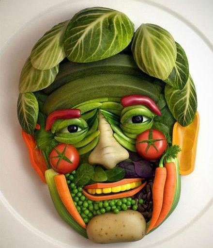 a whimsical vegetable platter for the holiday gathering