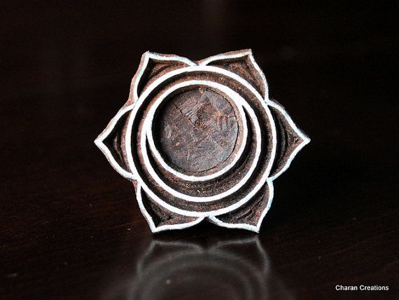 Hand Carved Indian Wood Textile Stamp by charancreations on Etsy, $12.50