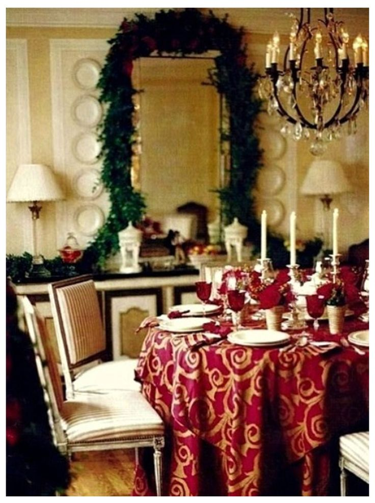 Pinhot Style Design On Dining Room  Pinterest  Room Ideas Endearing Christmas Decorations For Dining Room 2018