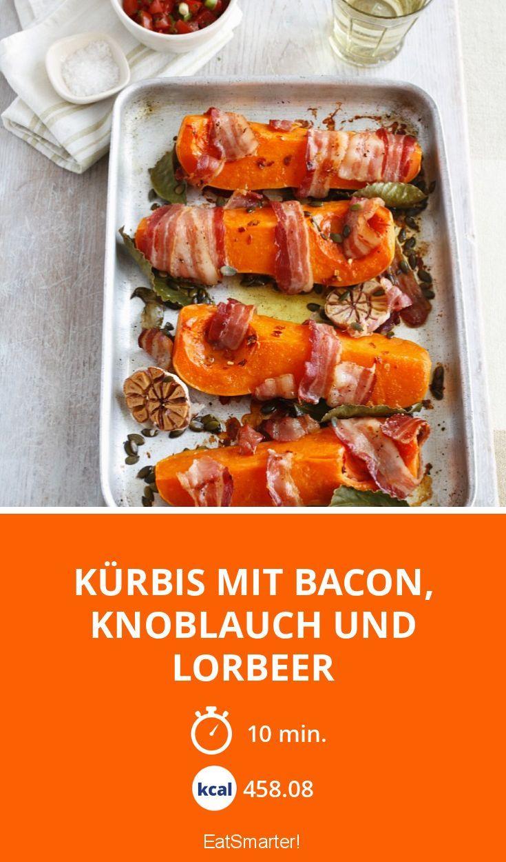 Kürbis mit Bacon, Knoblauch und Lorbeer - smarter - Kalorien: 458.08 Kcal - Zeit: 10 Min. | eatsmarter.de