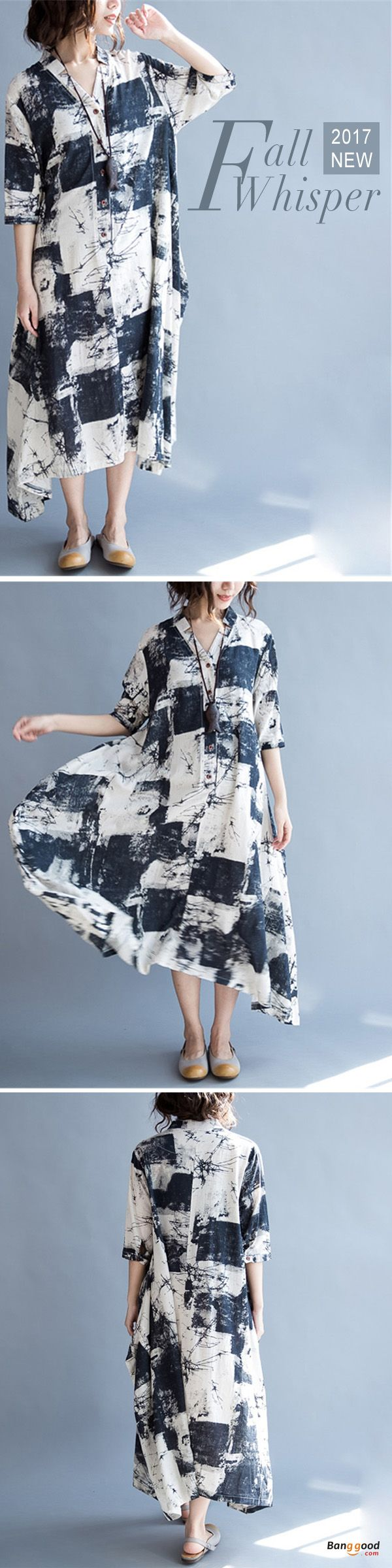 US$26.59+Free shipping. Size(US): L~5XL. Material: Cotton. Home or out, love this vintage and casual dress. Women Dresses, Long Dresses, Dresses Casual, Dresses for Teens, Summer Dresses, Summer Outfits, Retro Fashion.
