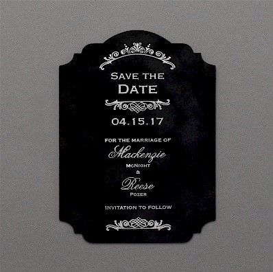 Vogue Velvet Save the Date Card