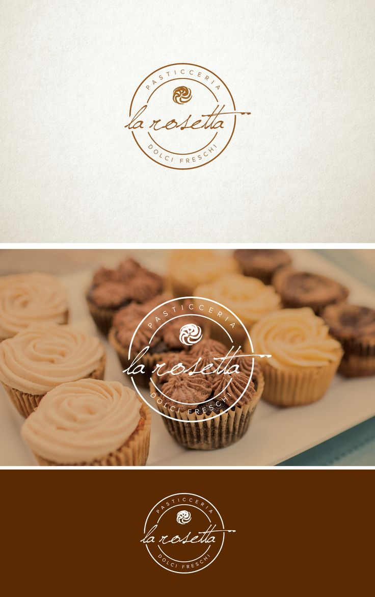 Stylized and elegant logo for a pasticceria italiana.