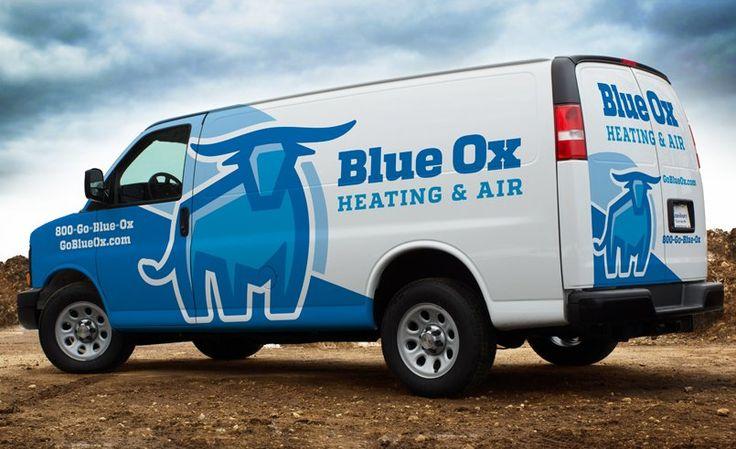 Fleet branding and truck wrap design for a new HVAC business.
