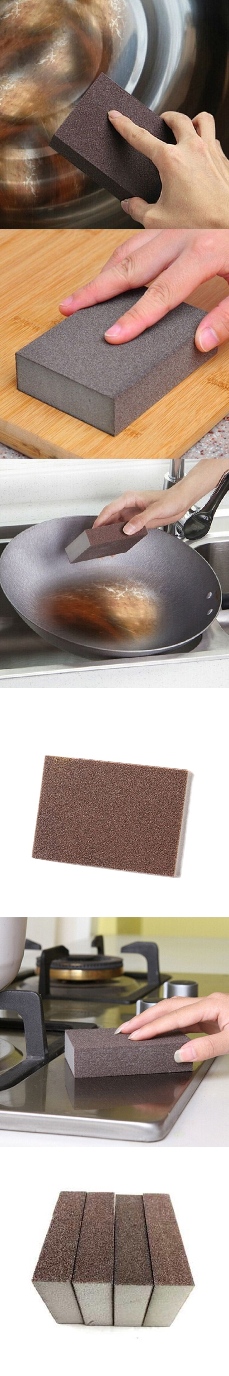 Rectangular Fine Sanding Sponge Block Reusable Wet Dry Blocks Coke Stains Helper HG-2404