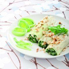 Cannelloni di porro con tofu e spinaci Cucina Naturale - Ricette, Menu, Diete