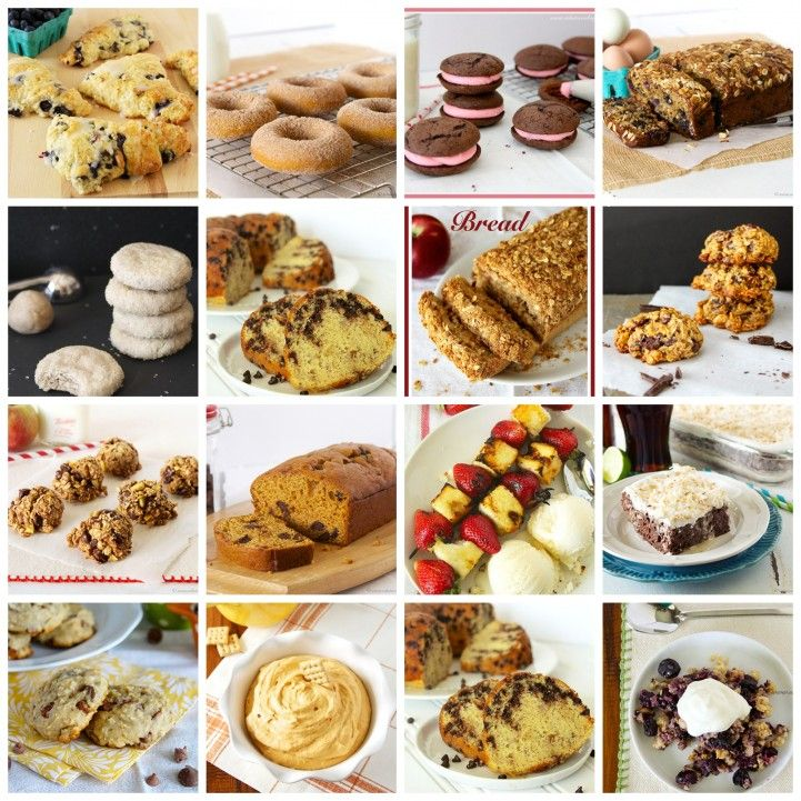 16 Deliciously Sweet and Skinny Recipes will help keep your healthy eating goals this year!  by www.whatscookingwithruthie.com #recipes #desserts