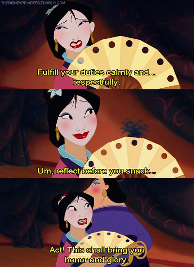 "Disney Movie Scene: ""This will bring you honor and glory."", Mulan"