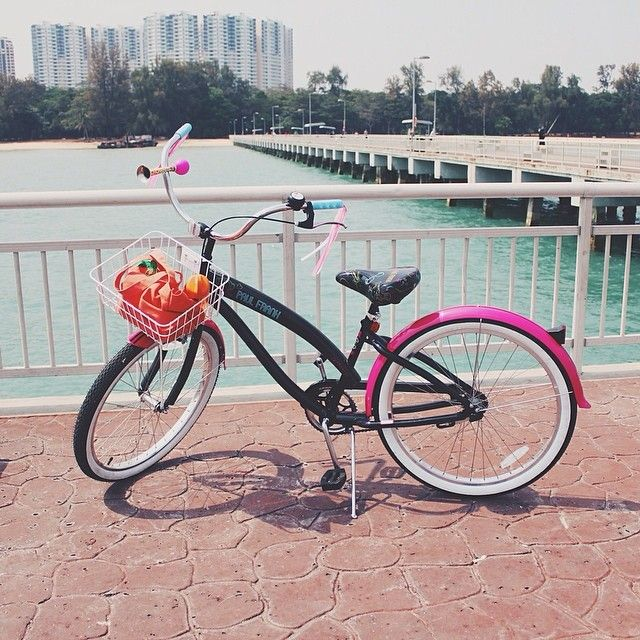 Roll into spring with this Paul Frank Neon cruiser from Ittah S.! Where do you ♥ to ride bikes?
