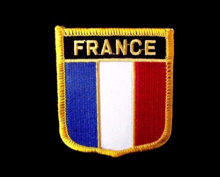 Vintage & UNUSED proud FRANCE country PATCH, nation uniform IRON-ON, new, Paris #NA